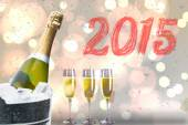 2015 against new year message — Stock Photo
