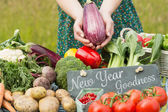 Composite image of new year goodness — Stock Photo