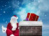 Santa Claus sits and meditates — Foto Stock
