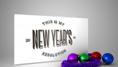 Composite image of new years resolution — Stock Photo