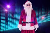 Santa Claus wears black sunglasses — Photo