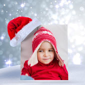 Festive little boy on the couch — Stock Photo