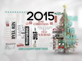 Holidays word jumble — Stock Photo