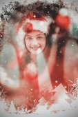 Festive litte girl decorating christmas tree — Stock Photo