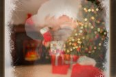 Santa claus winking — Stock Photo