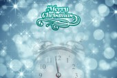 Composite image of merry christmas message — Stock Photo