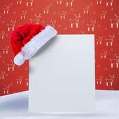 Santa hat on poster — Stock Photo