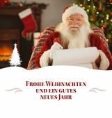 Happy santa writing list — Stock Photo