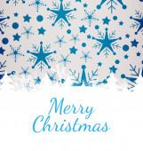 Merry christmas against snowflake — Stock Photo