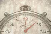 Composite image of close up of a stopwatch — Stock Photo