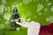 Santa Claus shows open hand — Stock Photo