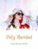 Cool santa girl wearing sunglasses — Stock Photo