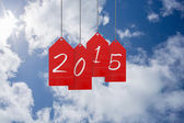 Composite image of 2015 red tags — Stock Photo