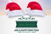 Samengestelde afbeelding van vrolijke kerstboodschap — Stockfoto