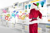 Santa looks away from camera — Photo