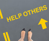 Composite image of businesswomans feet — Photo
