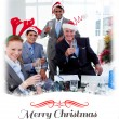 Manager and his team toasting — Stock Photo #62510029