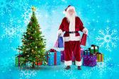 Santa carrega alguns sacos de Natal — Fotografia Stock