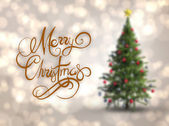 Merry christmas message — Stock Photo