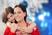 Composite image of mother and daughter — Foto de Stock