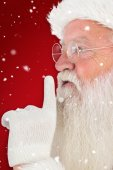 Santa claus making quiet — ストック写真