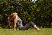 Portrait of a pretty redhead relaxing — Stock Photo