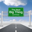 Next big thing road sign against sky — Stock Video #64753751