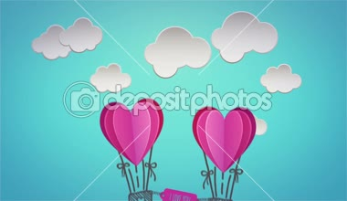 Digital animation of happy valentines day — Stock Video