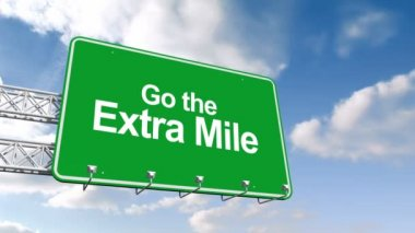 Go the extra mile sign against sky — Stock Video