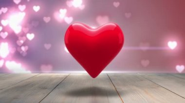 Digital animation of red heart — Wideo stockowe
