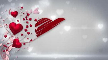 Digital animation of valentines day — Stock Video