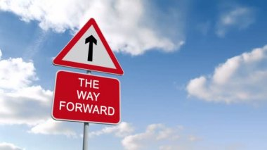The way forward sign against sky — Stock Video