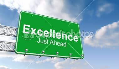 Excellence just ahead sign against sky — Stock Video