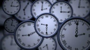 Clocks ticking in high speed — Stock Video
