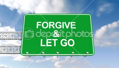 Forgive and let go sign against sky — Stock Video