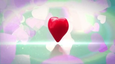Digital animation of red heart — Stock Video
