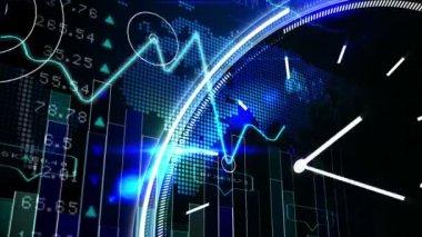 Blue stocks and shares technology screen — Vídeo de Stock