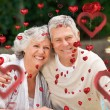 Composite image of love heart pattern — Stock Photo #64816913