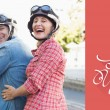 Mature couple riding a scooter — Stock Photo #64818345