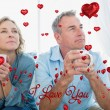 Thoughtful middle aged couple sitting — Fotografia Stock  #64819103