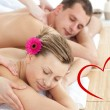 Relaxing couple having a massage — Stock Photo #64819547