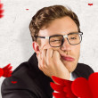 Geeky businessman looking bored — Stock Photo #64819879