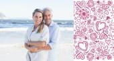 Happy couple hugging on the beach — Stock Photo