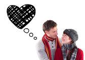 Casal olhando um ao outro — Fotografia Stock