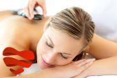 Attractive woman having a massage — Stock Photo
