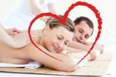 Couple having a back massage — Stock Photo