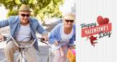 Happy mature couple going for a bike ride — Stock Photo