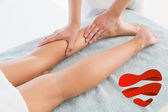 Woman receiving leg massage at spa center — Stock Photo