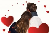 Close up rear view of romantic couple — Stock Photo