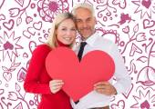 Man getting heart card form wife — Stock Photo
